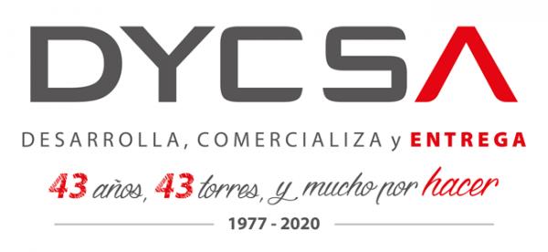 Logo Dycsa y 43 años